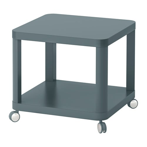 Tingby side table on castors turquoise 50x50 cm ikea for Table haute 50x50