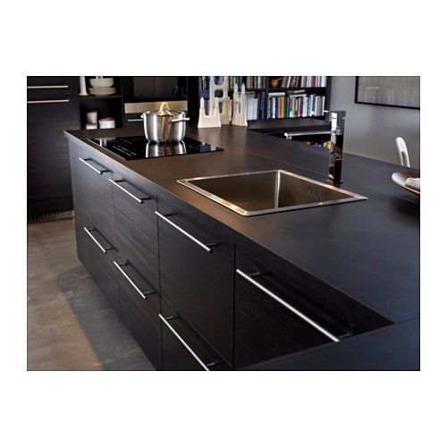 Tingsryd door wood effect black 40x80 cm ikea - Ikea poignee cuisine ...
