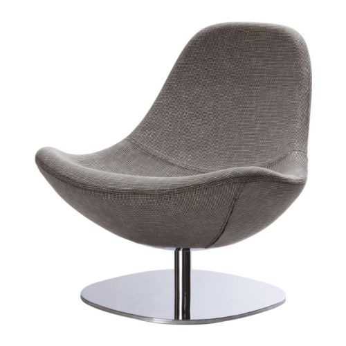 TIRUP Swivel armchair IKEA Extra wide seat allows you to sit comfortably; you can put your legs under you and rest your hands on the seat.