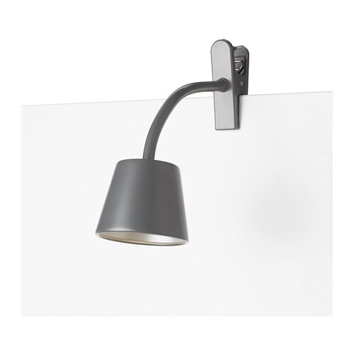TISDAG LED clamp spotlight IKEA Slim and lightweight: easy to place in small spaces and move to wherever you need light.