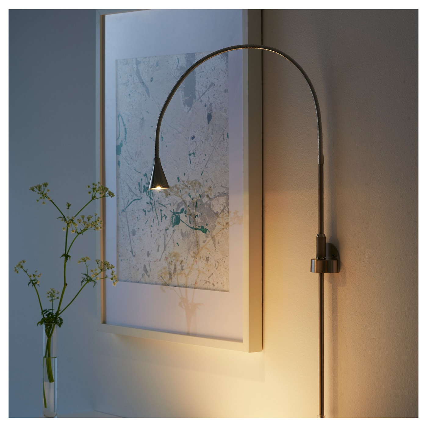 IKEA TIVED LED wall/clamp spotlight Slim design; easy to place in small spaces.