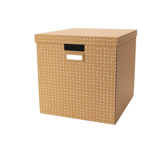 IKEA TJENA box with lid Perfect for newspapers, photos or other memorabilia.