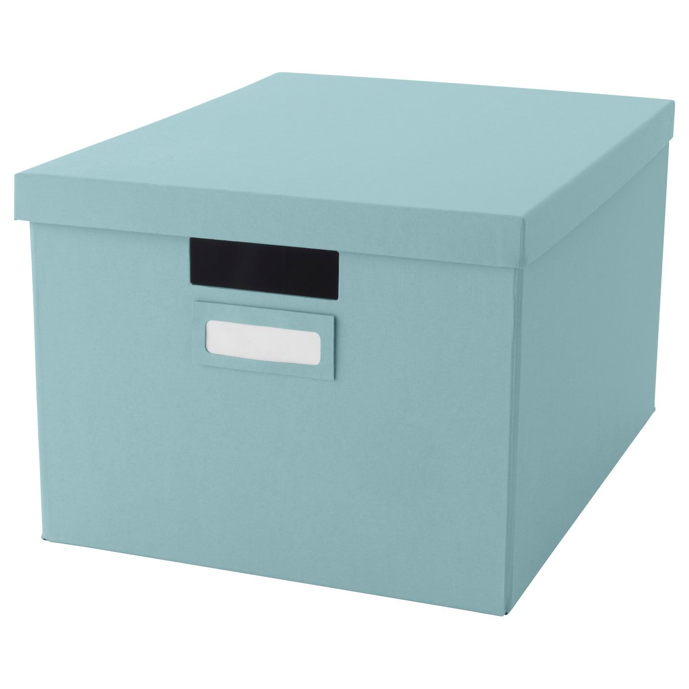 tjena box with lid light blue 27x35x20 cm ikea. Black Bedroom Furniture Sets. Home Design Ideas