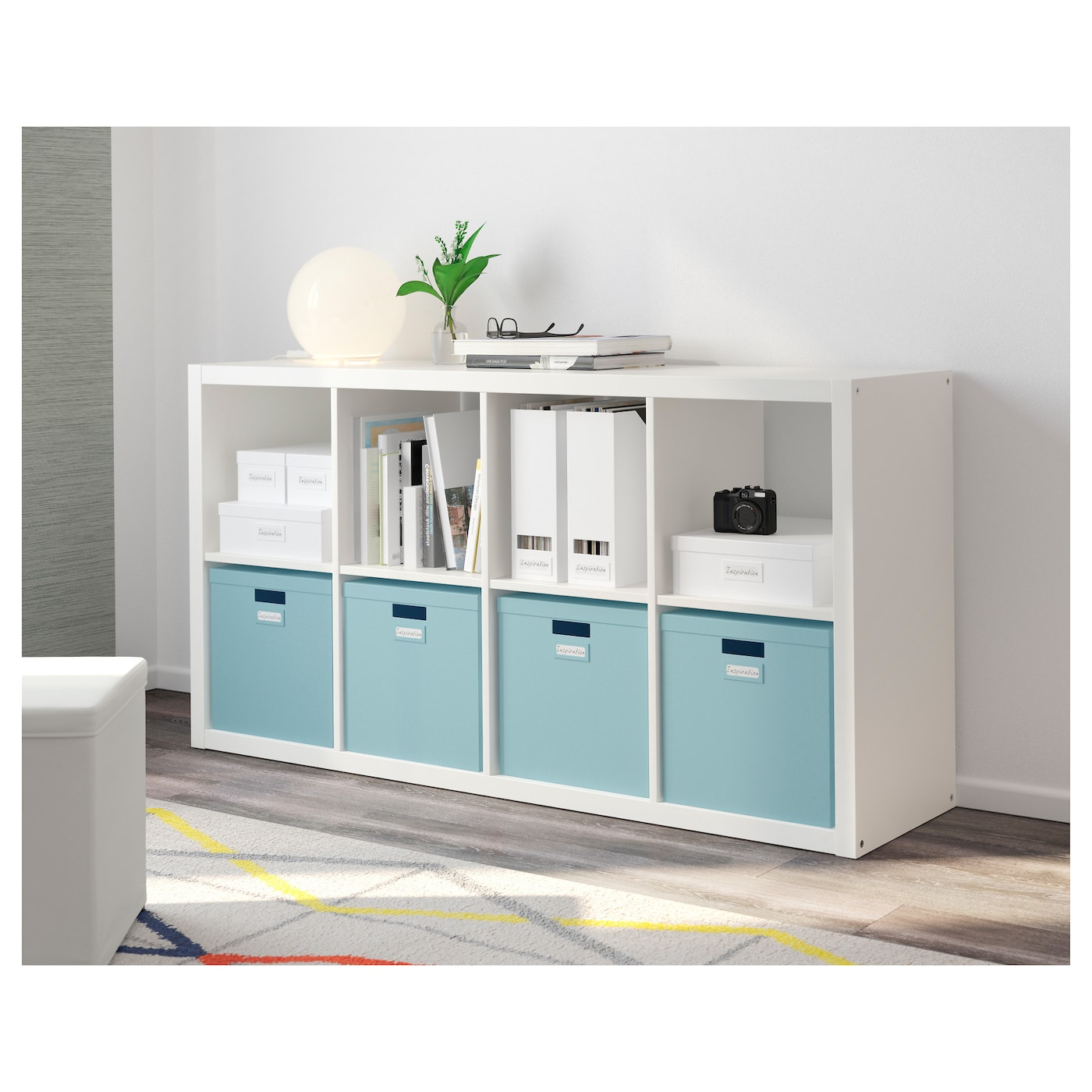 tjena box with lid light blue 32x35x32 cm ikea. Black Bedroom Furniture Sets. Home Design Ideas