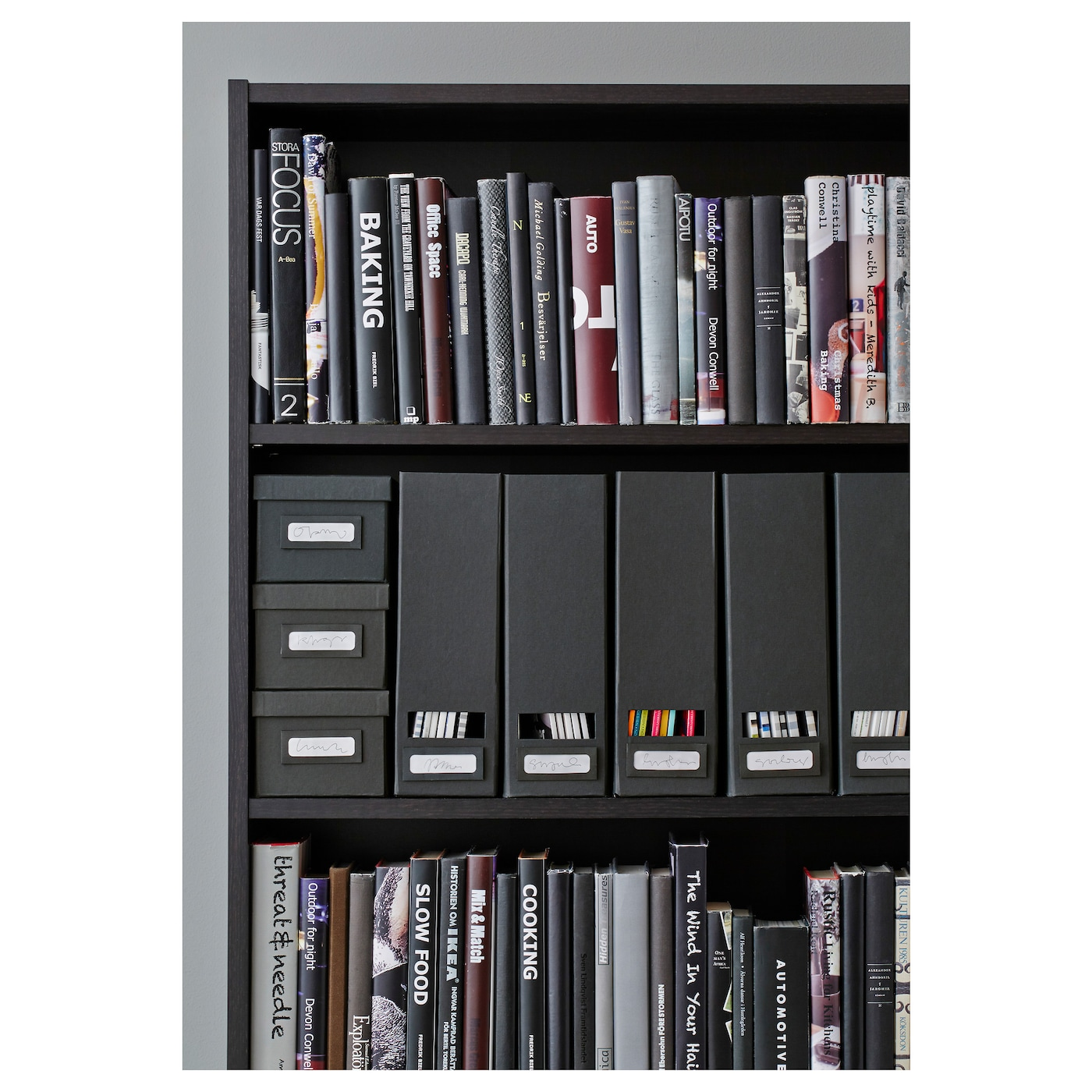 IKEA TJENA magazine file Easy to pull out and lift as the magazine file has  a. TJENA Magazine file Black   IKEA