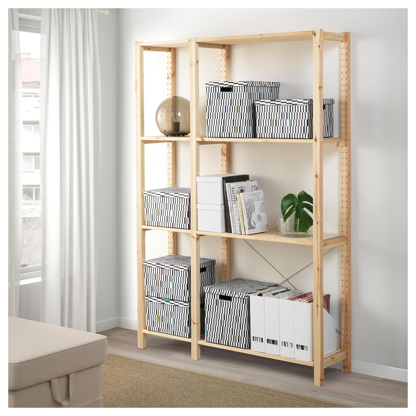 Tjena Storage Box With Lid Black White 25x35x20 Cm Ikea
