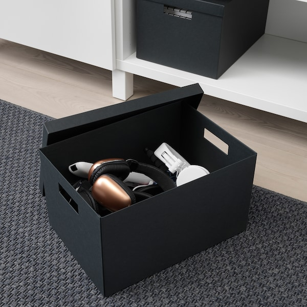 Tjena Black Storage Box With Lid