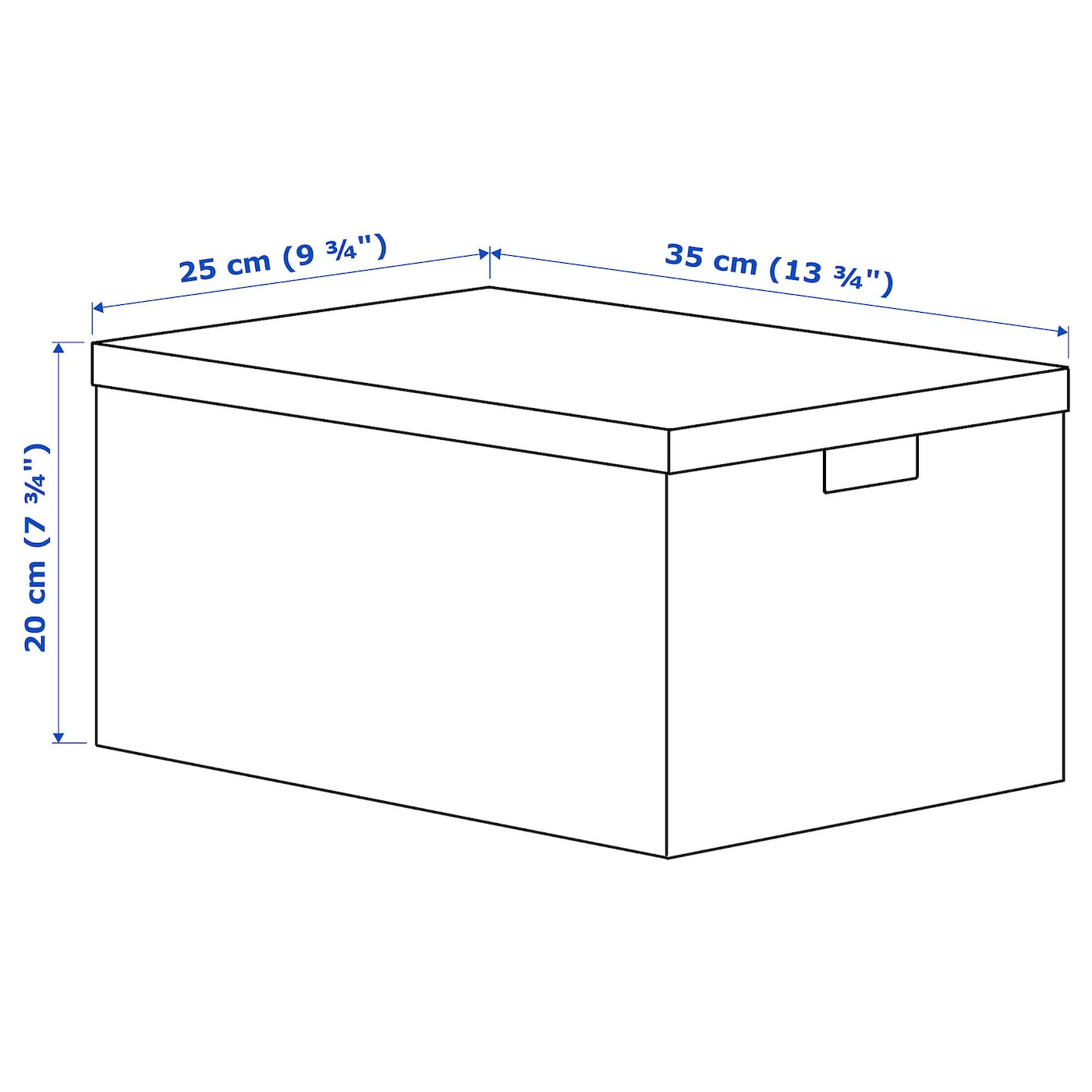 IKEA TJENA storage box with lid