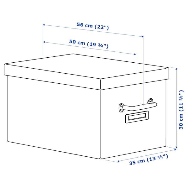 TJOG Storage box with lid, dark grey, 35x56x30 cm