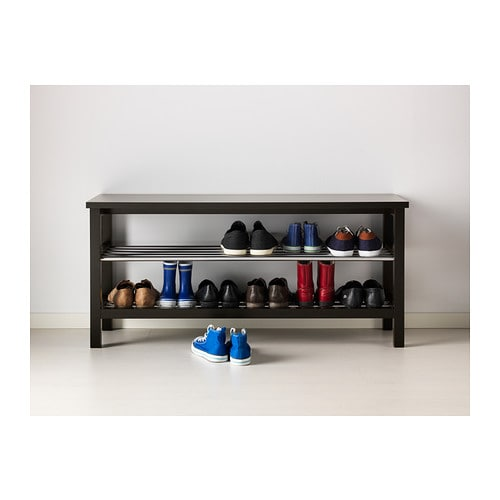 Tjusig bench with shoe storage black 108x50 cm ikea - Banc rangement chaussures ikea ...