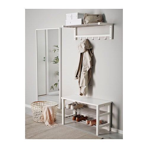 tjusig bench with shoe storage white 81x50 cm ikea. Black Bedroom Furniture Sets. Home Design Ideas