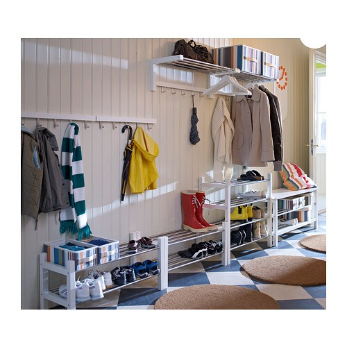 TJUSIG Shoe rack White 79 cm IKEA