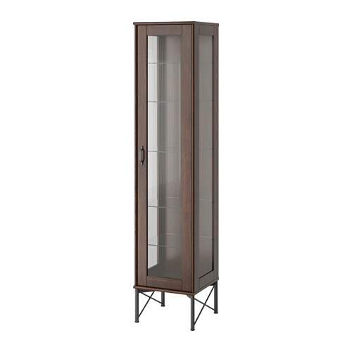 IKEA TOCKARP glass-door cabinet