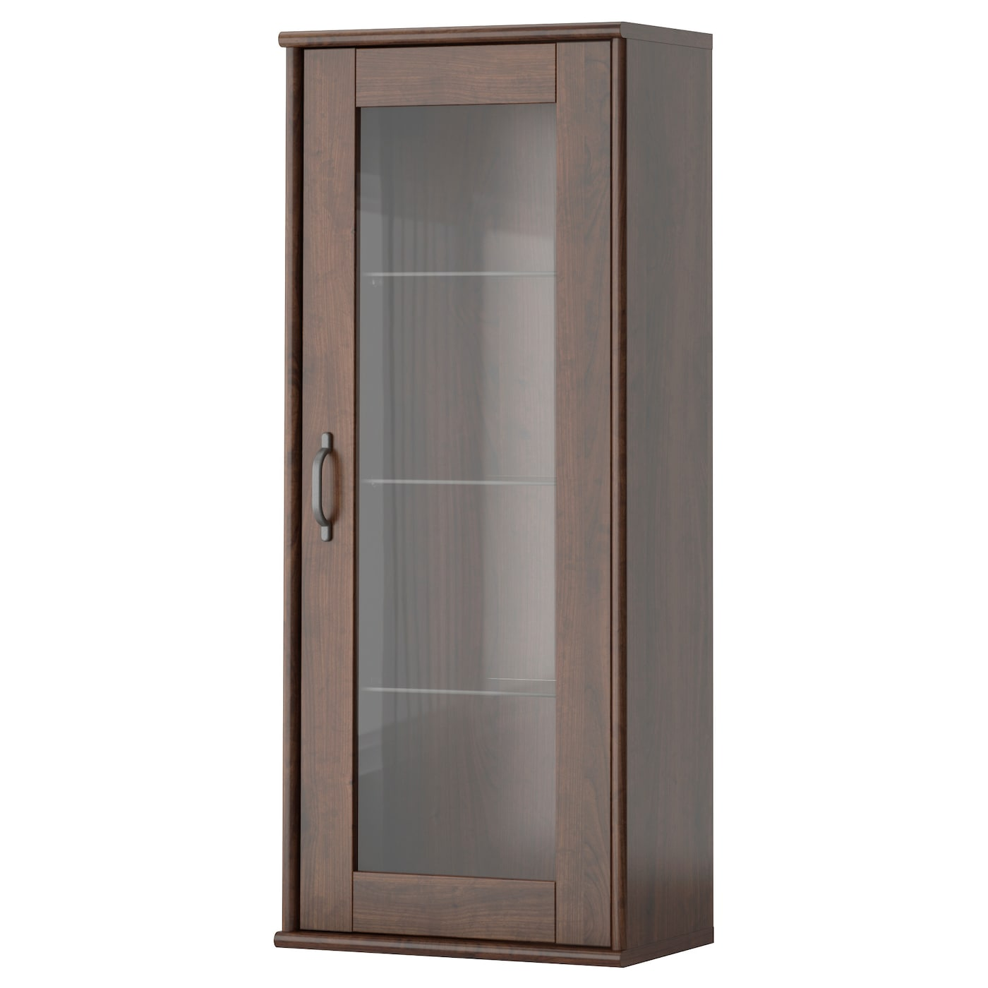 Tockarp Wall Cabinet With Glass Door Brown 38x92 Cm Ikea