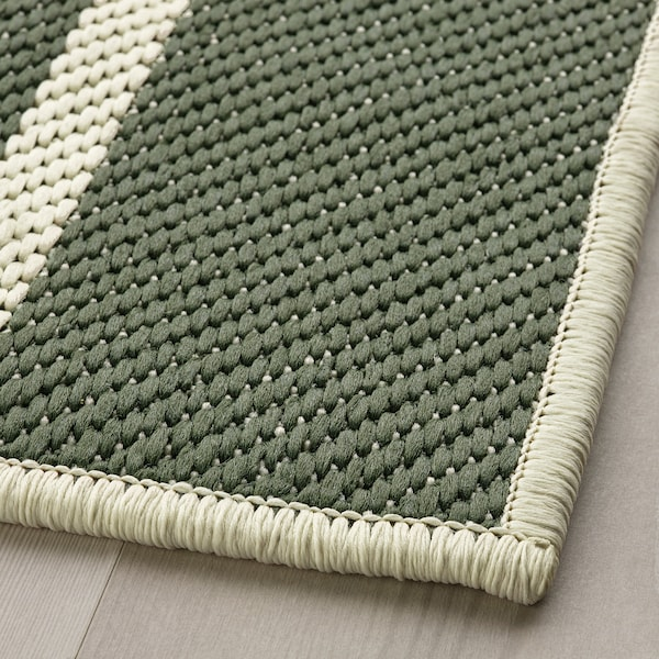 TÖMMERBY Rug flatwoven, in/outdoor, dark green/off-white, 160x230 cm