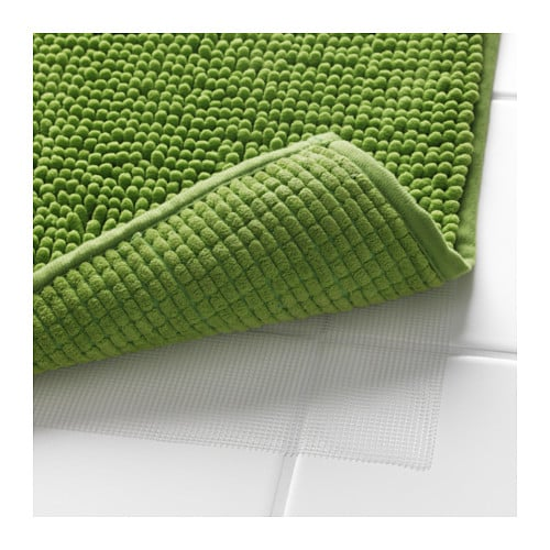 IKEA TOFTBO bath mat Ultra soft, absorbent and quick to dry since it's made of microfibre.