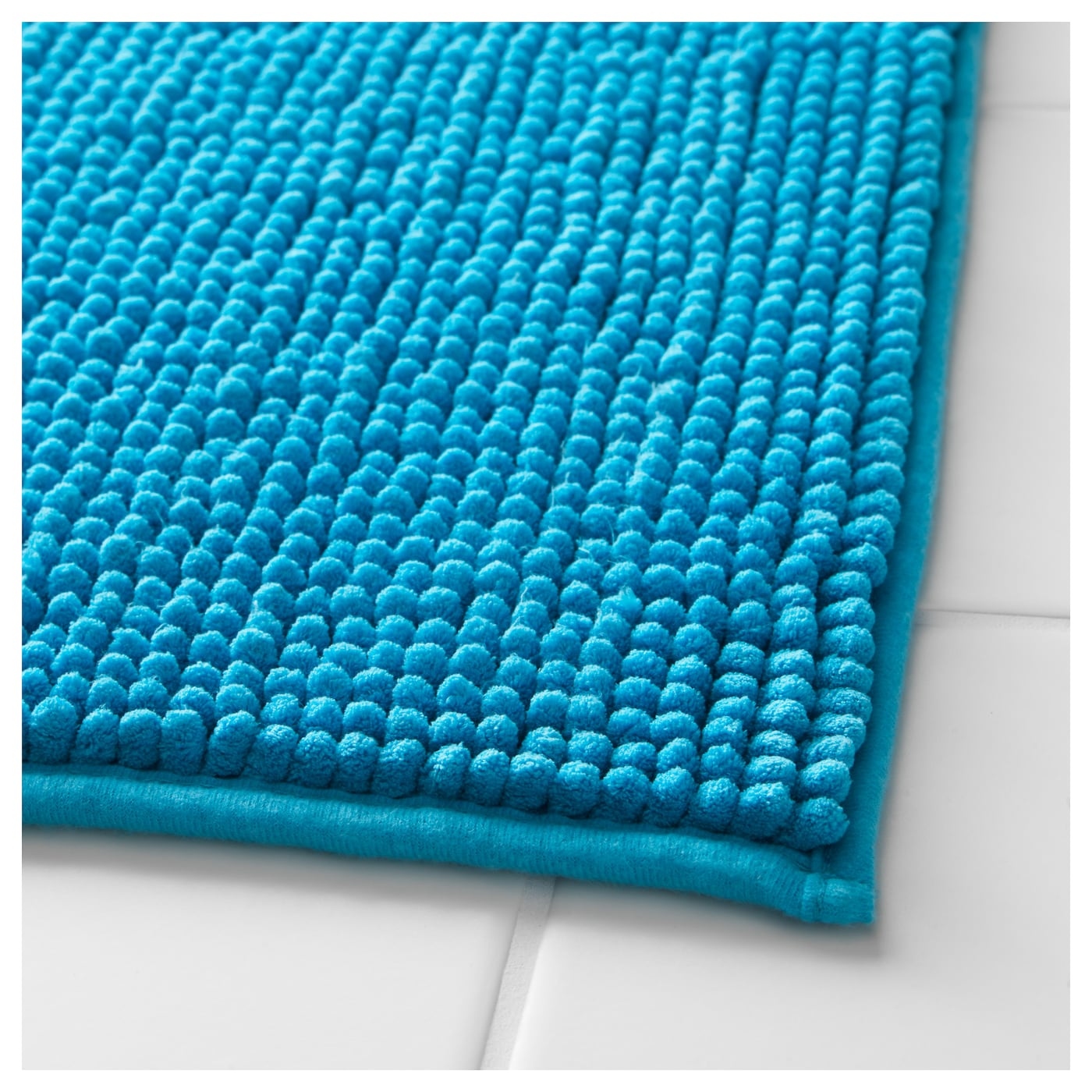Toftbo bath mat turquoise 60x90 cm ikea for Tapis gris et bleu turquoise