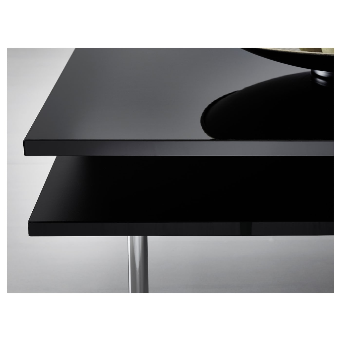 tofteryd coffee table high-gloss black 95x95 cm - ikea