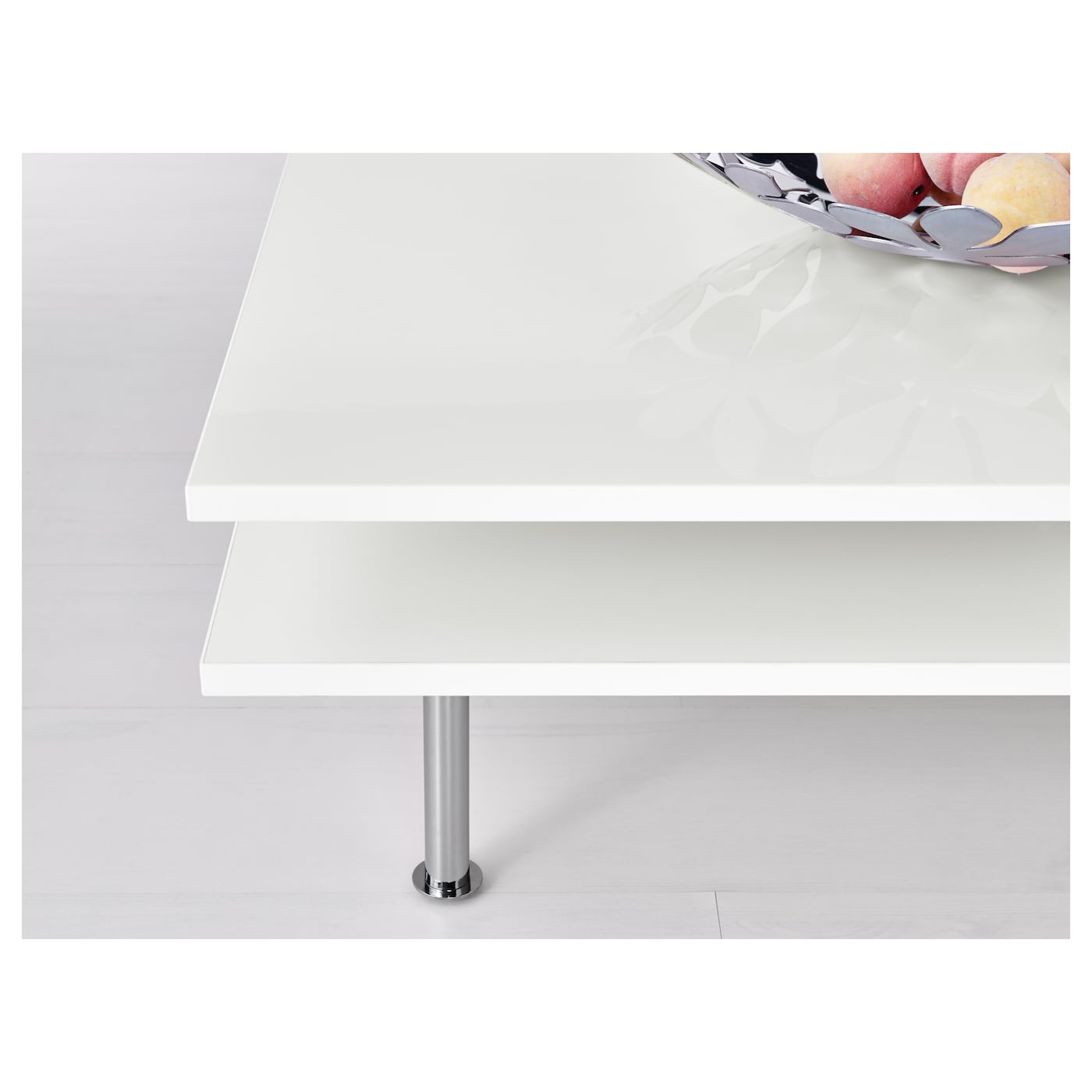 TOFTERYD Coffee table High gloss white 95x95 cm IKEA