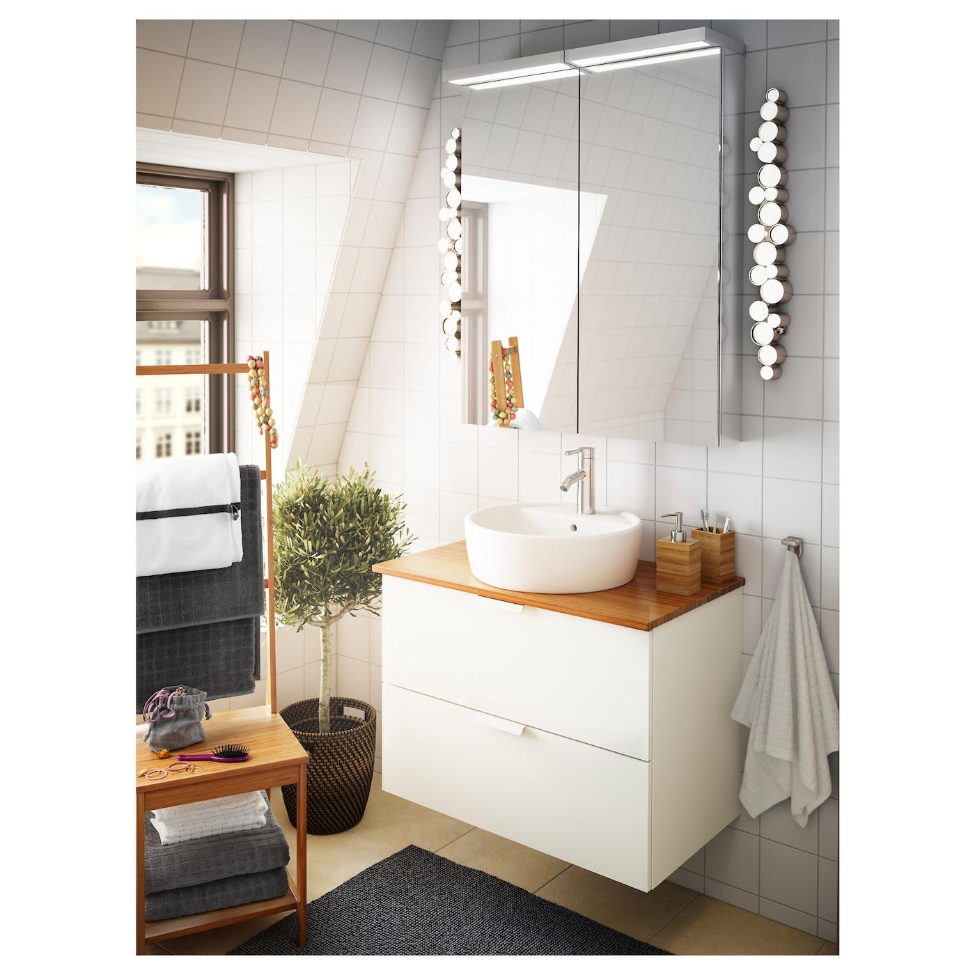 Bamboo countertops bathroom - Ikea Tolken Countertop You Can Place The Wash Basin Where You Prefer Left