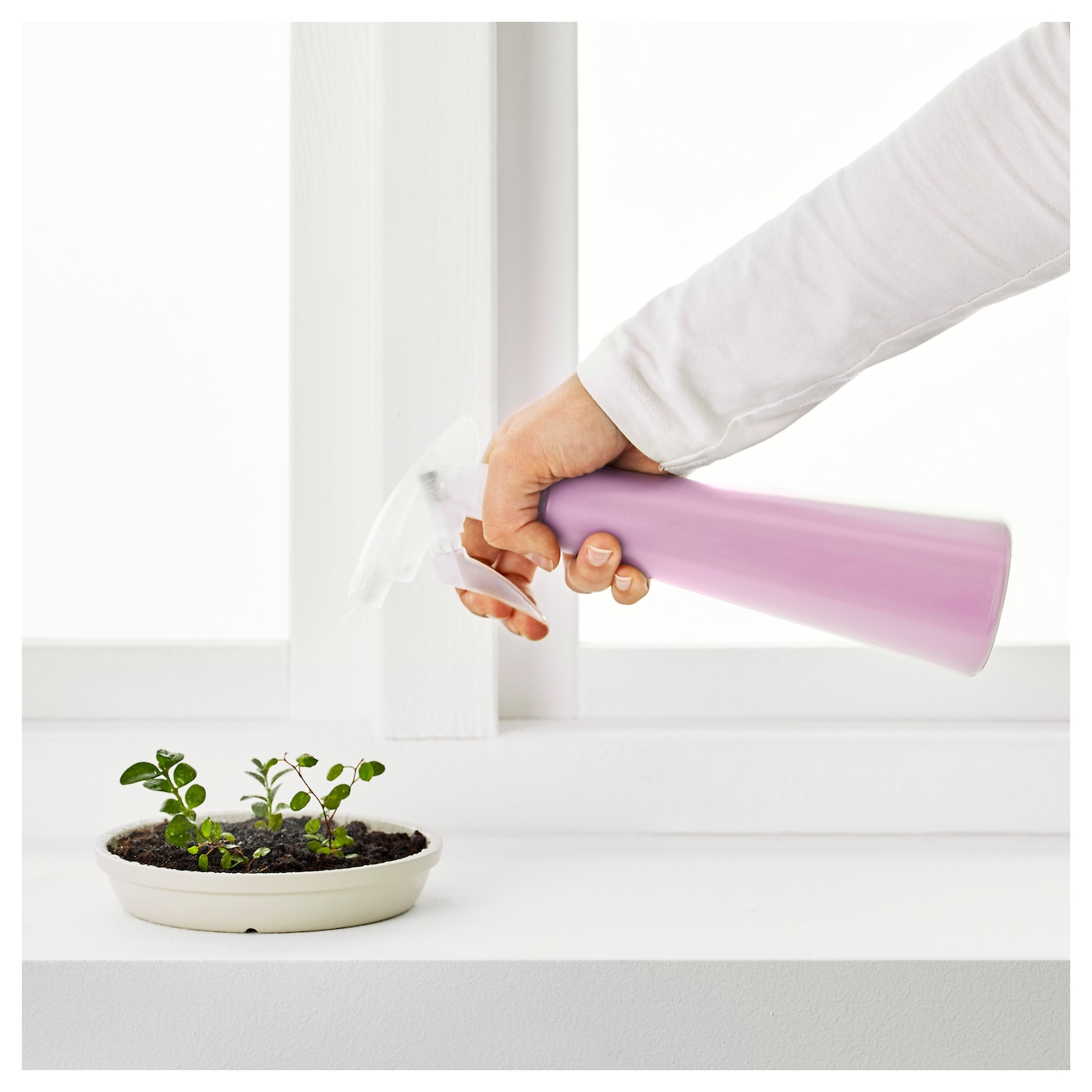 IKEA TOMAT spray bottle You can adjust the water jet from a hard to a soft spray.