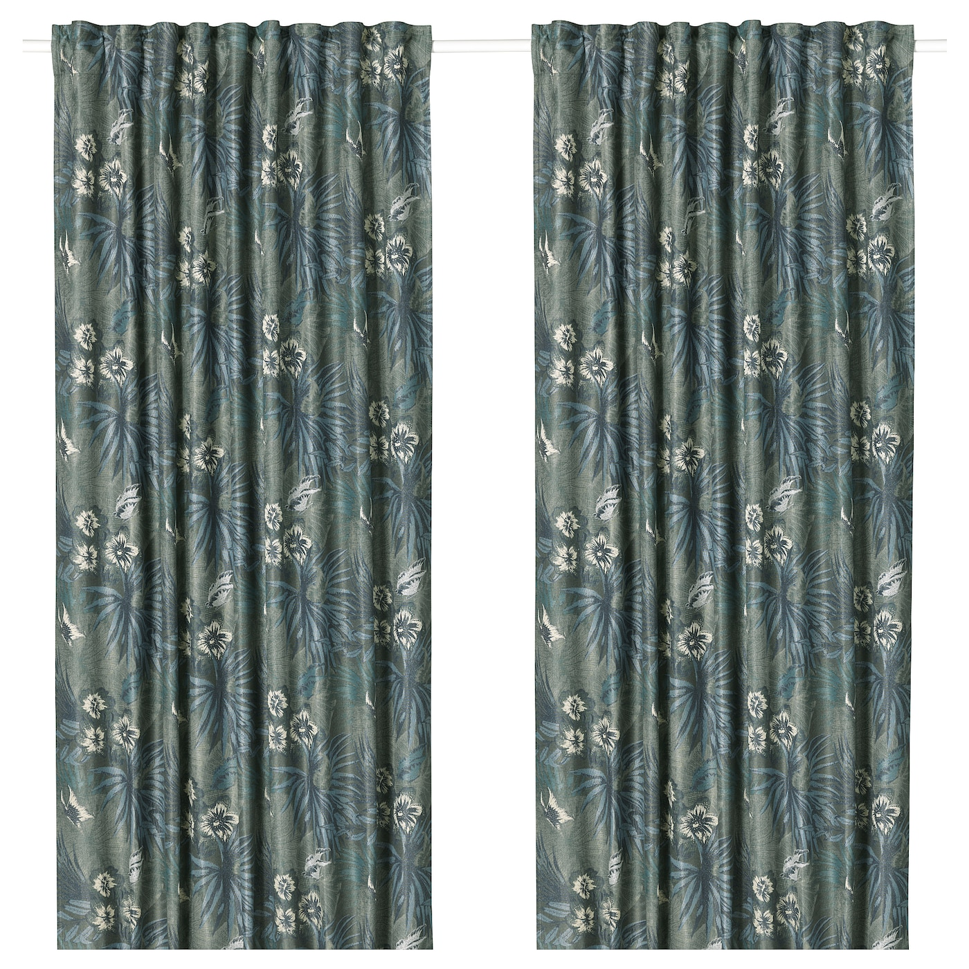 IKEA TORGERD curtains, 1 pair The curtains can be used on a curtain rod or a curtain track.