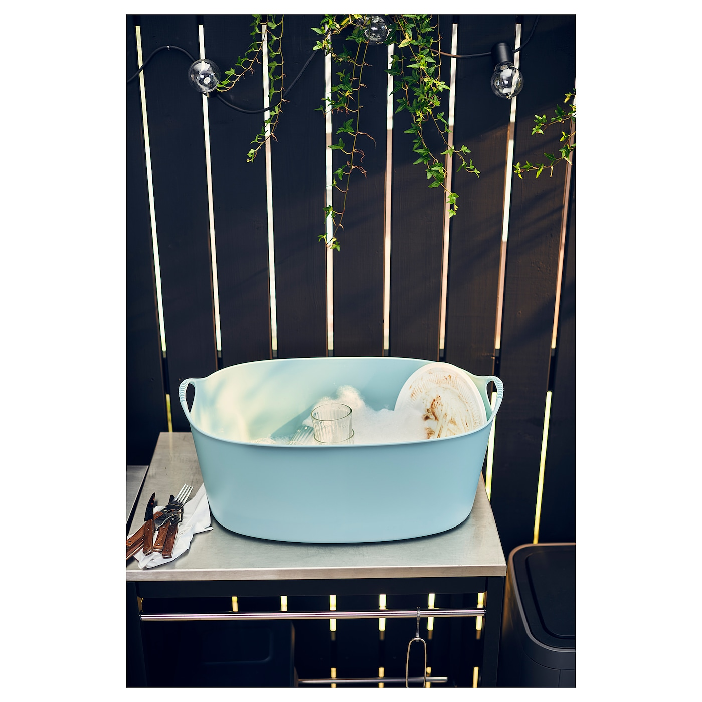 IKEA TORKIS flexi laundry basket, in-/outdoor Suitable for both indoor and outdoor use.