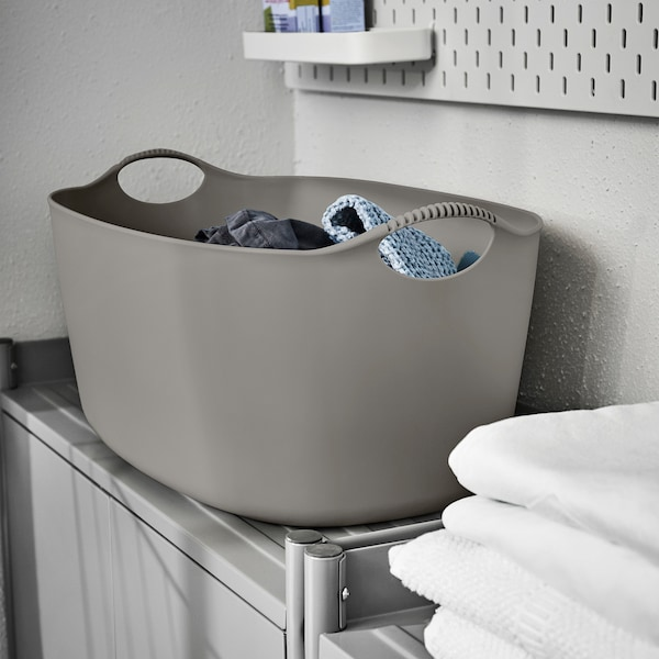 TORKIS Flexi laundry basket, in-/outdoor, grey, 35 l