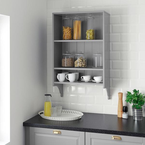 grey, Wall shelf, Width: 60 cm IKEA