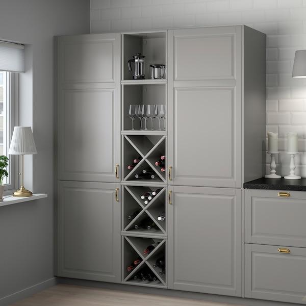 TORNVIKEN Wine shelf, grey, 40x37x40 cm