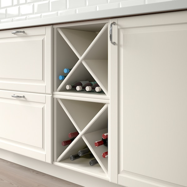 TORNVIKEN Wine shelf, off-white, 40x37x40 cm
