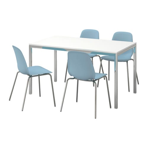 Torsby leifarne table and 4 chairs high gloss white light for Table ikea 4 99