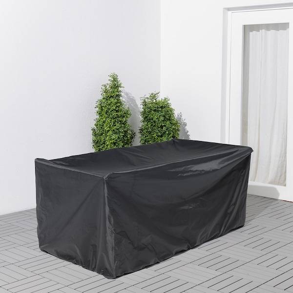 TOSTERÖ Cover for outdoor furniture, sofa/black, 170x100 cm