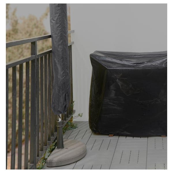 TOSTERÖ Parasol cover, black, 160 cm