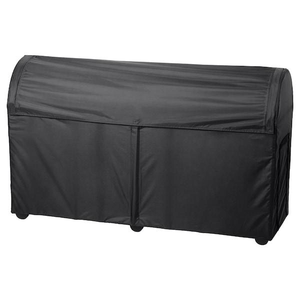 TOSTERÖ Storage box, outdoor, black, 129x44x79 cm