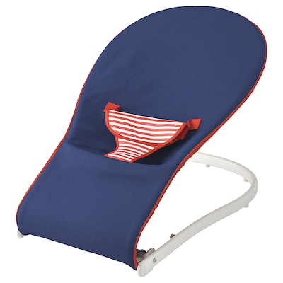 TOVIG Baby bouncer, blue/red
