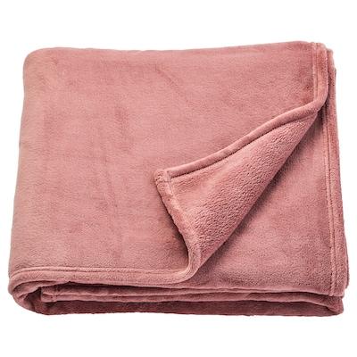 TRATTVIVA Bedspread, dark pink, 230x250 cm