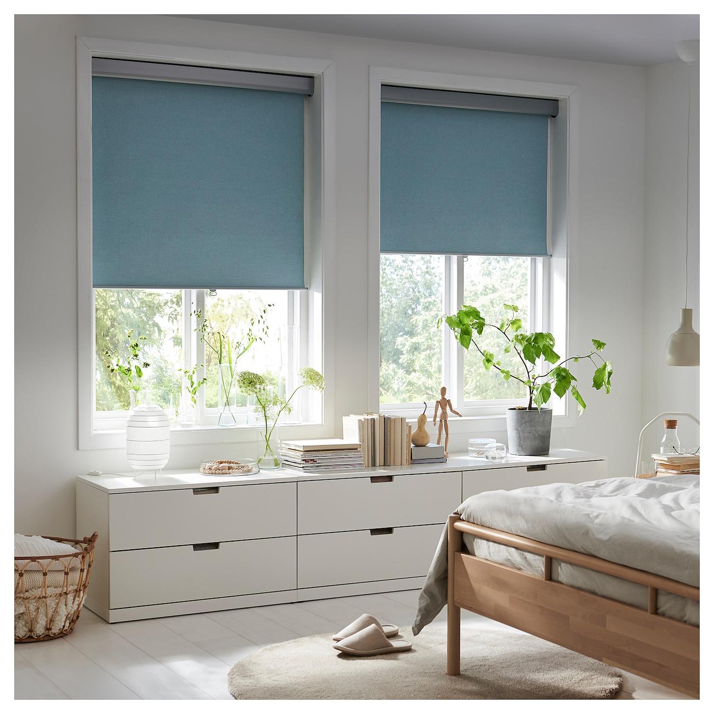 tretur block out roller blind light blue 140 x 195 cm ikea. Black Bedroom Furniture Sets. Home Design Ideas