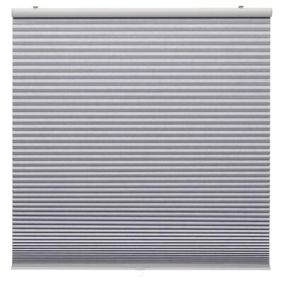TRIPPEVALS Block-out cellular blind, light grey, 120x195 cm