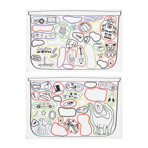 TROFAST Stickers IKEA Decorating with stickers is a simple way of renewing a room.
