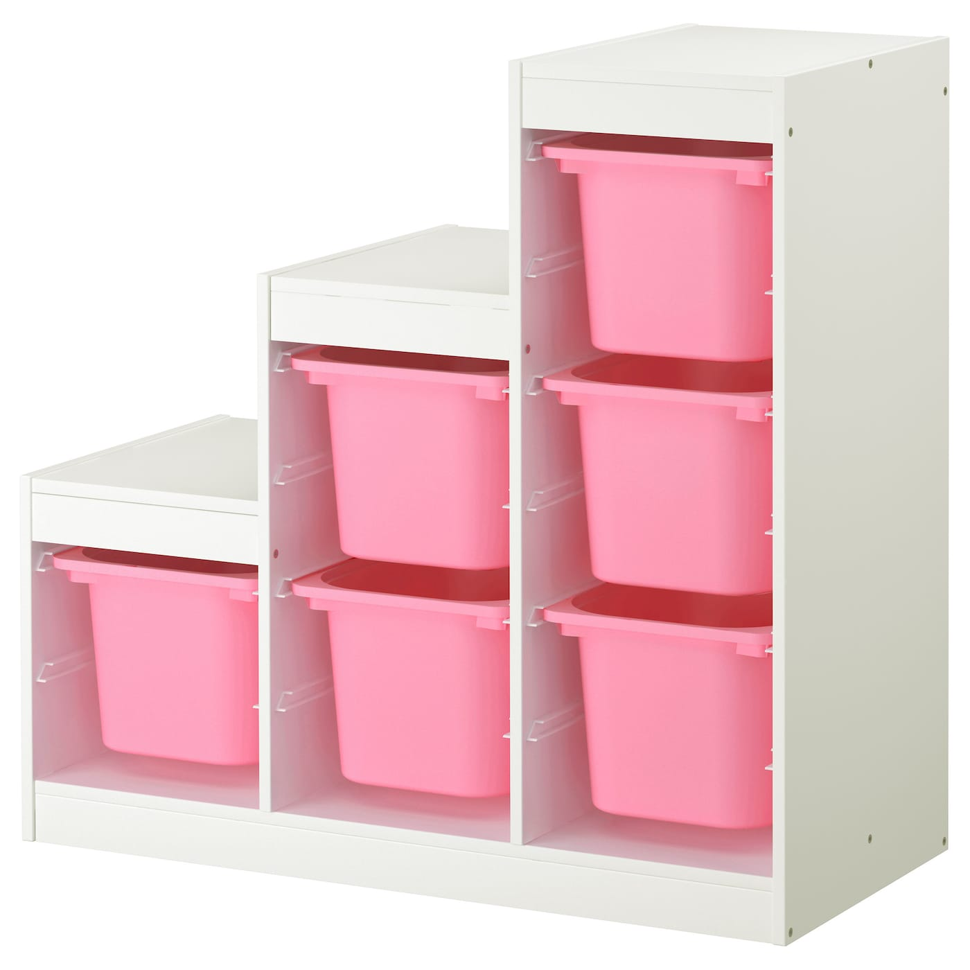 trofast storage combination white pink 99x44x94 cm ikea. Black Bedroom Furniture Sets. Home Design Ideas