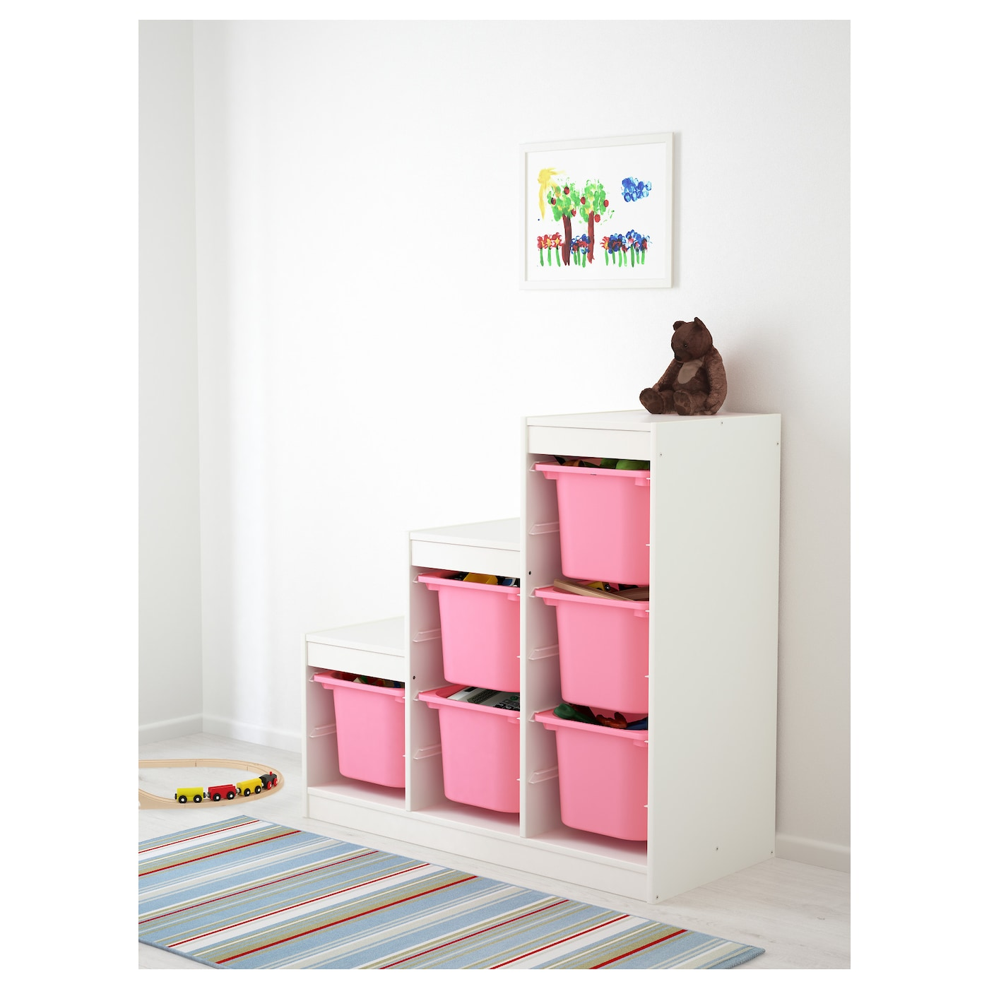 Trofast storage combination white pink 99x44x94 cm ikea for Ikea ordine
