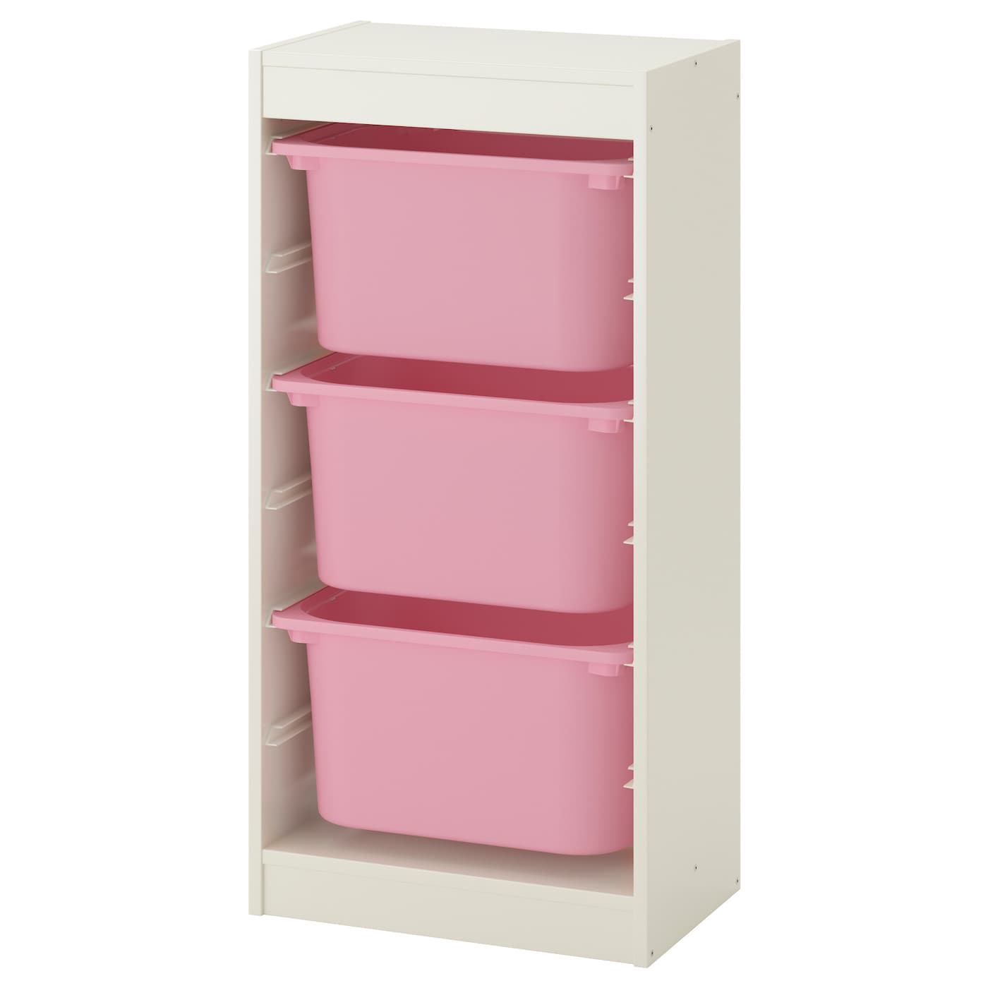 trofast storage combination with boxes white pink 46x30x94 cm ikea. Black Bedroom Furniture Sets. Home Design Ideas