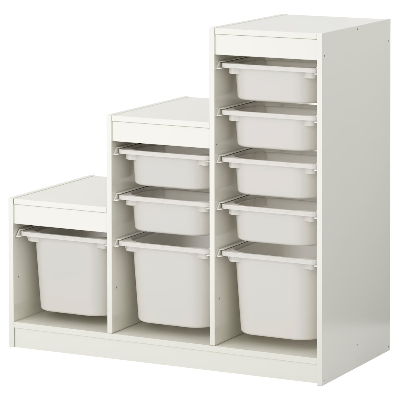 trofast storage combination with boxes white white 99x44x94 cm ikea. Black Bedroom Furniture Sets. Home Design Ideas