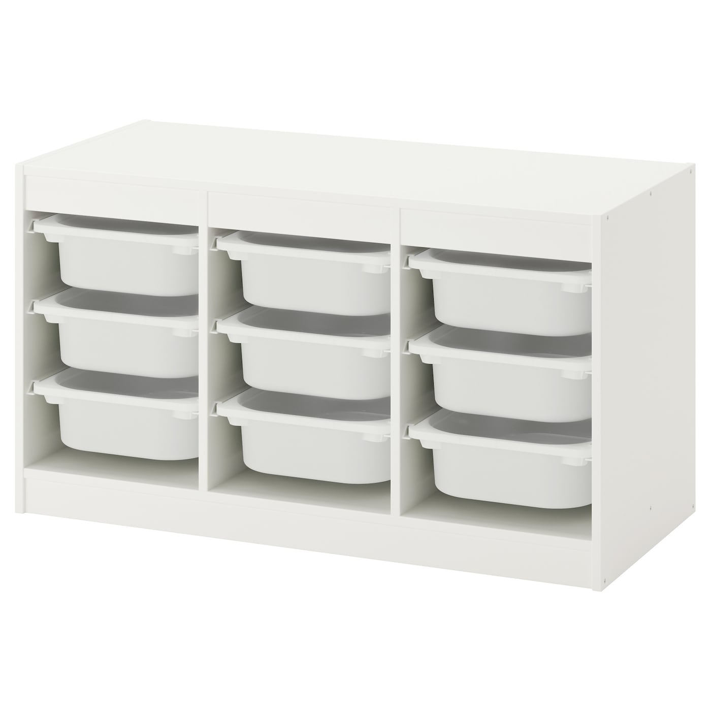 trofast storage combination with boxes white white 99x56x44 cm ikea. Black Bedroom Furniture Sets. Home Design Ideas