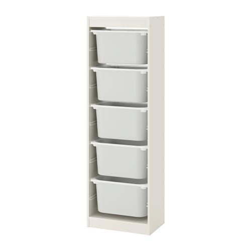 Trofast Opbergkast Ikea.Trofast Storage Combination With Boxes White White 46 X 30 X 145 Cm
