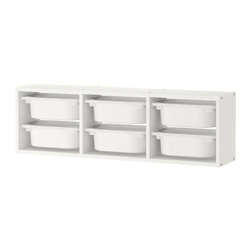 trofast wall storage white white 99 x 21 x 30 cm ikea rh ikea com ikea toy box shelves children's toy shelves ikea