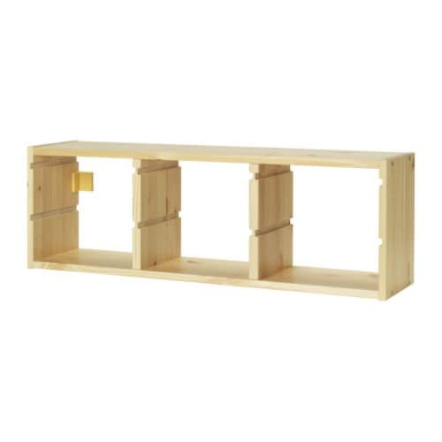 TROFAST Wall storage IKEA Several grooves for TROFAST storage box 20x30x10 cm, so you can place it where you want it.