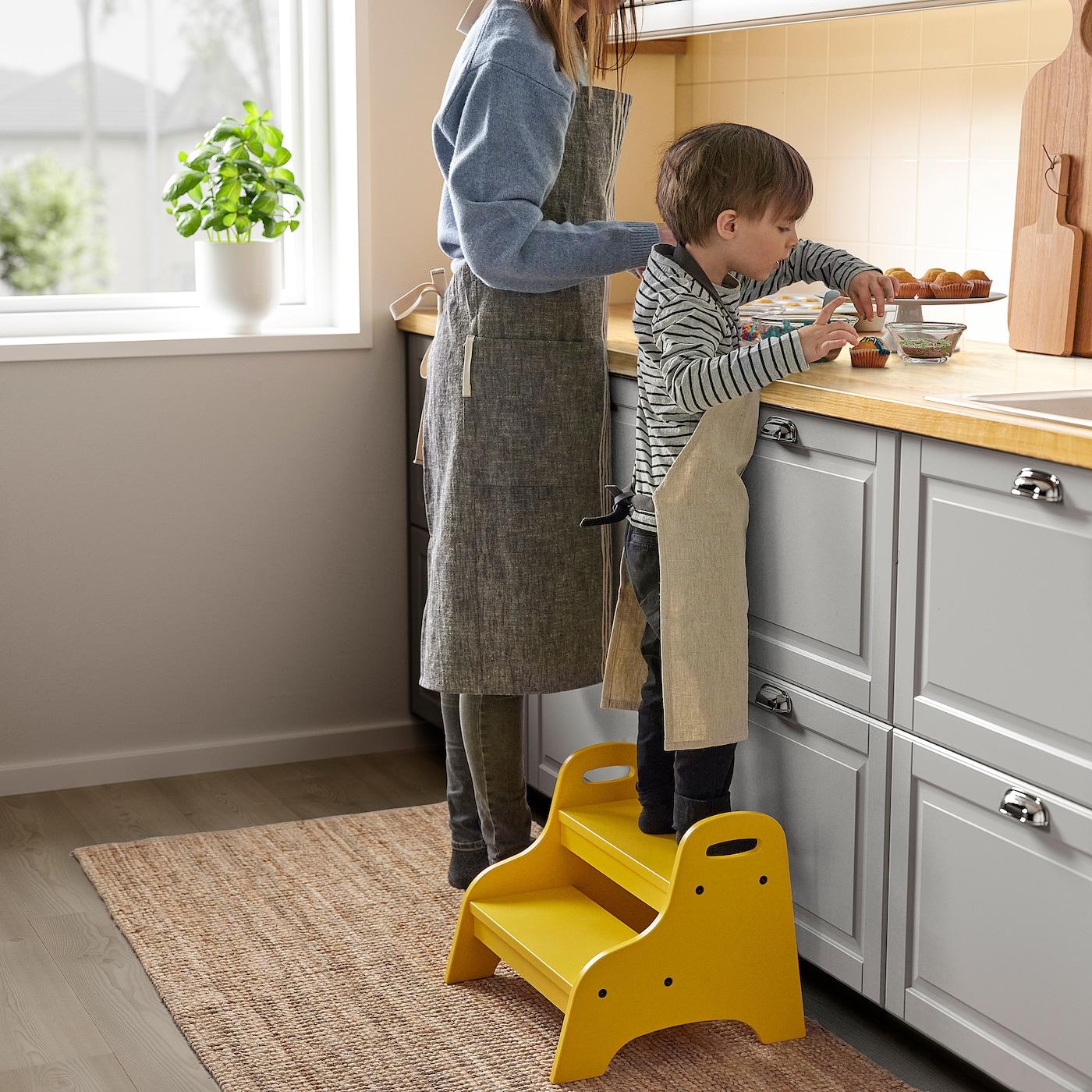 Trogen Yellow Children S Step Stool 40x38x33 Cm Ikea