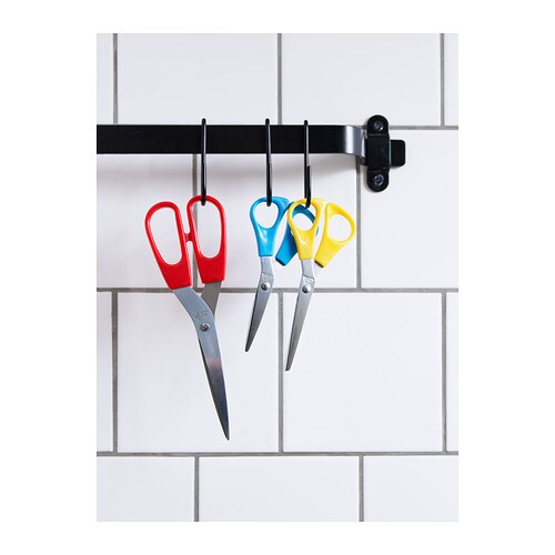 IKEA TROJKA scissors, set of 3 Designed both for right-handed and for left-handed persons.